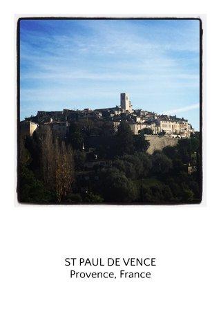 ST PAUL DE VENCE Provence, France