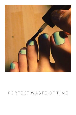 PERFECT WASTE OF TIME