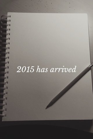 2015 has arrived