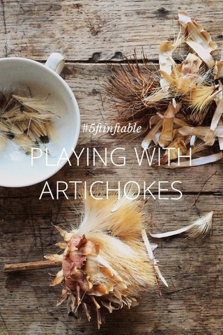 PLAYING WITH ARTICHOKES #5ftinftable