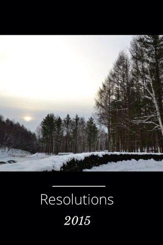 Resolutions 2015