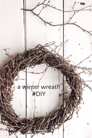 a winter wreath #DIY