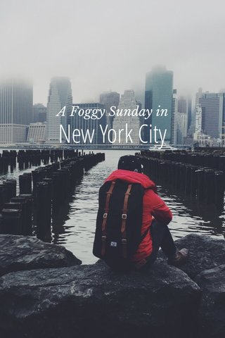 New York City A Foggy Sunday in