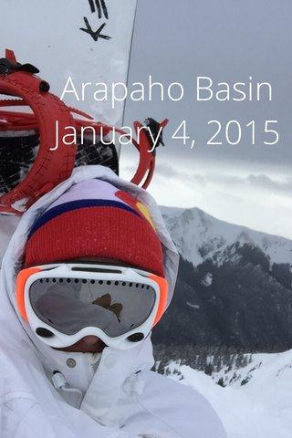Arapaho Basin January 4, 2015