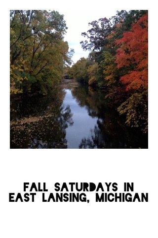 Fall Saturdays in East Lansing, Michigan