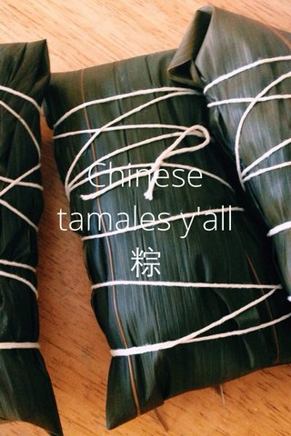 Chinese tamales y'all 粽