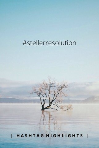 #stellerresolution | HASHTAG HIGHLIGHTS |