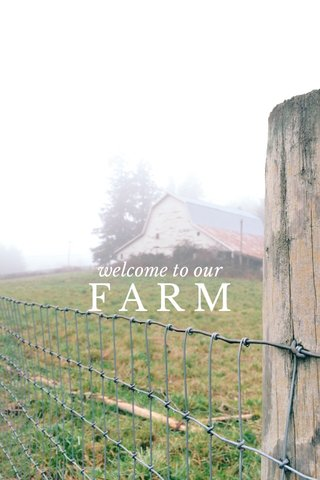 FARM welcome to our