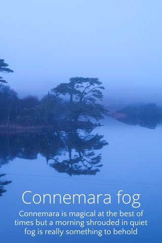 Connemara fog Connemara is magical at the best of times but a morning shrouded in quiet fog is really something to behold