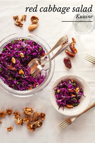 red cabbage salad Kuisine