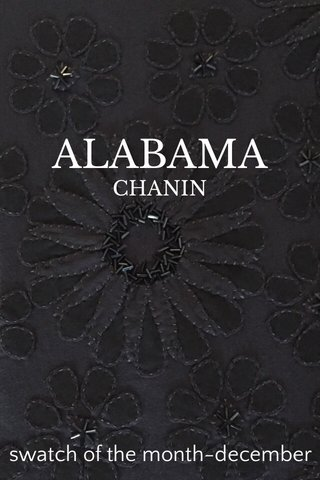 ALABAMA swatch of the month-december CHANIN
