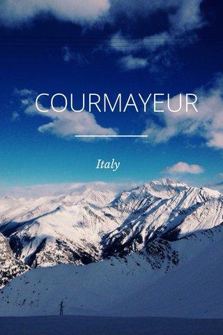 COURMAYEUR Italy