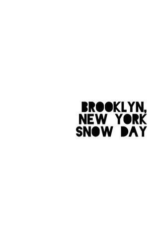 Brooklyn, New York Snow Day