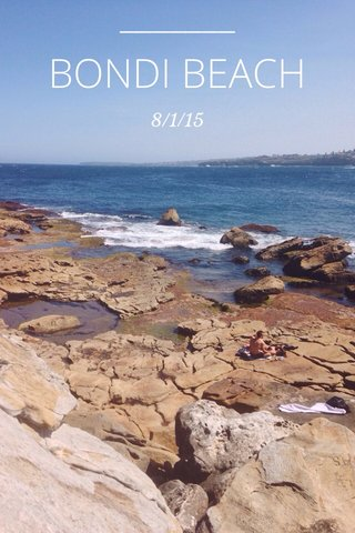 BONDI BEACH 8/1/15