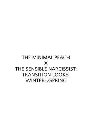 THE MINIMAL PEACH X THE SENSIBLE NARCISSIST: TRANSITION LOOKS: WINTER->SPRING