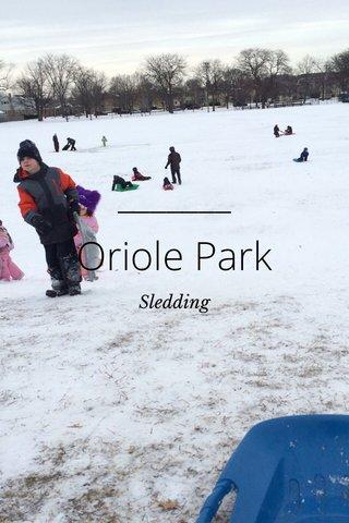 Oriole Park Sledding