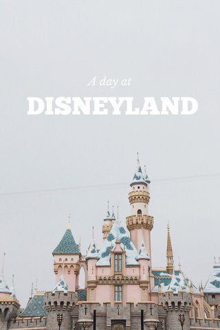 DISNEYLAND A day at