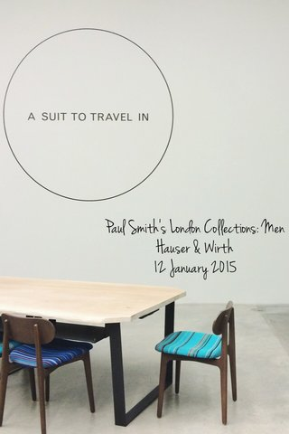 Paul Smith's London Collections: Men Hauser & Wirth 12 January 2015