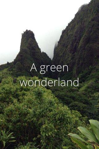 A green wonderland