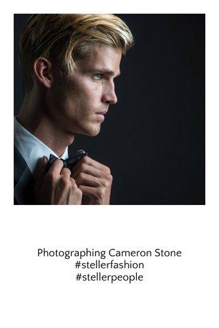 Photographing Cameron Stone #stellerfashion #stellerpeople