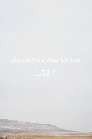Utah Antelope Island, Great Salt Lake