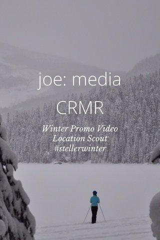 joe: media CRMR Winter Promo Video Location Scout #stellerwinter