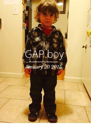 GAP boy January 20 2015