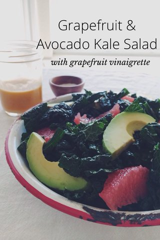 Grapefruit & Avocado Kale Salad with grapefruit vinaigrette