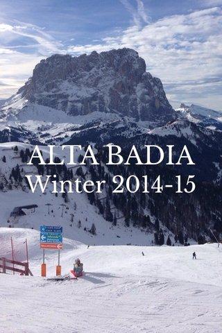 ALTA BADIA Winter 2014-15