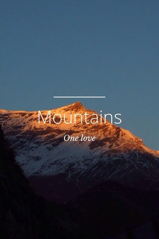Mountains One love