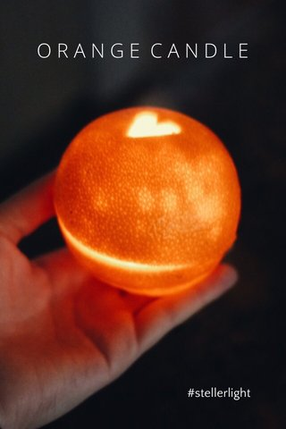 ORANGE CANDLE #stellerlight