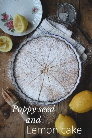 Lemon cake Poppy seed and
