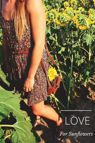 LOVE For Sunflowers