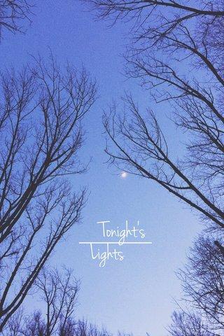 Tonight's Lights