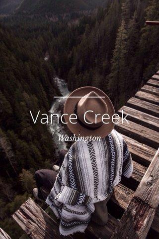 Vance Creek Washington