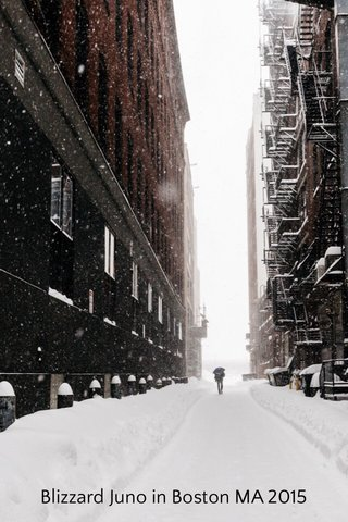 Blizzard Juno in Boston MA 2015