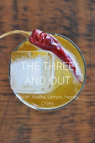 THE THREE AND OUT Pilsner, Vodka, Lemon, Honey, Chiles
