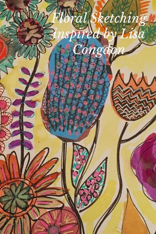 Floral Sketching inspired by Lisa Congdon