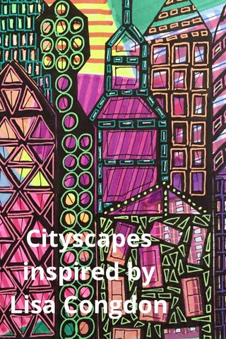 Cityscapes inspired by Lisa Congdon