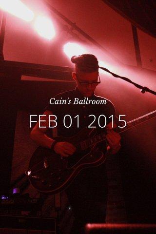FEB 01 2015 Cain's Ballroom