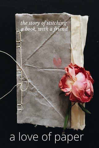 a love of paper the story of stitching a book, with a friend