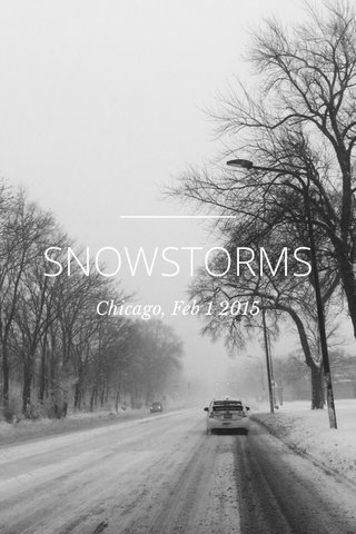 SNOWSTORMS Chicago, Feb 1 2015