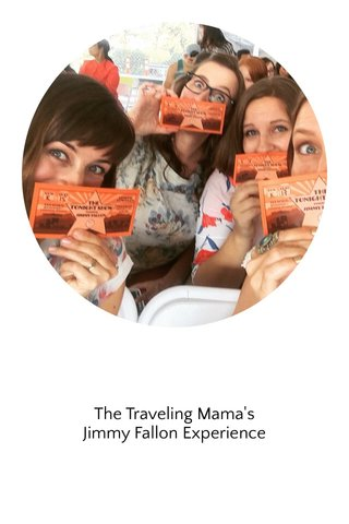 The Traveling Mama's Jimmy Fallon Experience