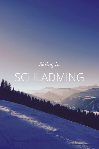 SCHLADMING Skiing in