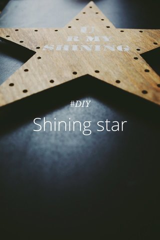 Shining star #DIY