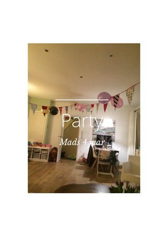 Party Mads 4 jaar