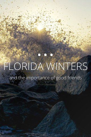 ••• FLORIDA WINTERS and the importance of good friends