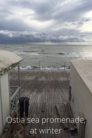 Ostia sea promenade, at winter