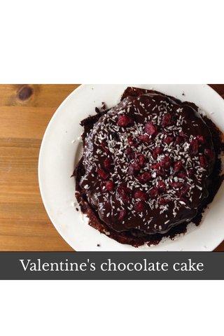 Valentine's chocolate cake