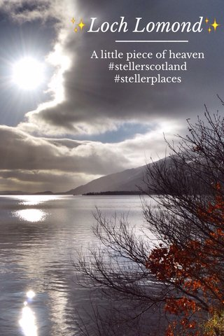 ✨Loch Lomond✨ A little piece of heaven #stellerscotland #stellerplaces